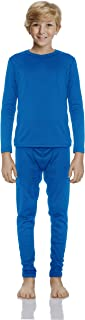 Rocky 男童光滑针织保暖内裤 2 件套长款 John 上衣和下装睡衣