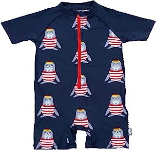 Sterntaler 思丹乐 婴儿 - 男童泳衣,带尿布衬里,防紫外线50+,颜色:*蓝