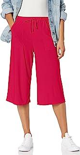 Star Vixen 女士贴袋七分裤,紫红色,XL 码