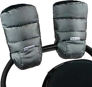 7AM Enfant 婴儿推车保暖垫 - 极地暖手带防冻、寒冷天气,防水保暖手套,适用于婴儿车、婴儿车和汽车座椅杆(金属灰色)