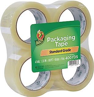 Duck Tape 品牌标准包装胶带替换装,4 卷,1.88 英寸 x 100 码 (240593)