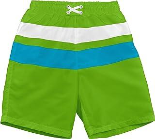 i play. 婴儿和幼儿男孩拼色平角内裤 内置游泳尿布