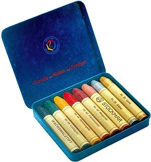 Stockmar 蜂蜡棒蜡笔 8色 盒装 艺术色 ST32122