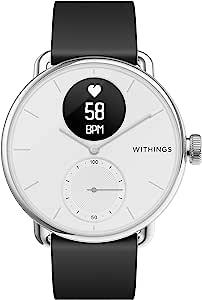 Withings ScanWatch 诞生于法国的智能手表 38毫米款 白色 *长可持续30天 检测心率急剧变化&*中的*乱 HWA09-MODEL 1-ALL-RO