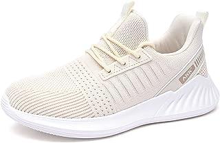 Akk 女士徒步网球鞋 - 一脚蹬*海绵轻质休闲运动鞋适合健身房旅行工作