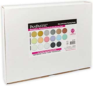 Panpastel 17 Metallic/Pearl/Medium Set