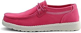 starmerx 女式帆布乐福鞋舒适休闲平底鞋