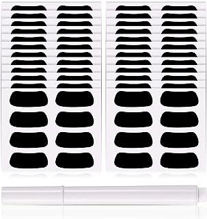 Eye Black Strips 运动黑色眼条透气棒球眼带 带 1 支白色铅笔 适用于棒球足球垒球长曲棍球球迷比赛日