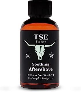 TSE 男士舒缓须后剃须 - 德州皮革 - 天然成分,*剃须后。芦荟减少剃须燃烧。手工制作的 2 液盎司 / 60 毫升美国制造。