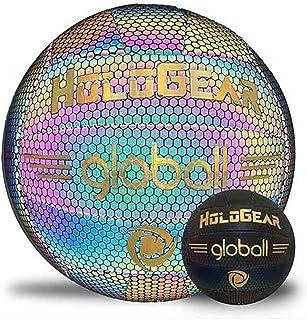 HoloGear 全息发光反光排球 - 相机闪光灯点亮夜光排球礼物玩具适合儿童和男孩 - 完美的夜间游戏