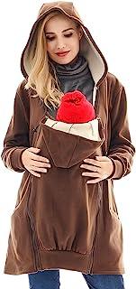 Bearsland 女式婴儿服孕妇夹克外套羊毛孕妇婴儿背带连帽衫毛衣 HR100BIG