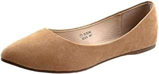 女式芭蕾平底鞋尖头经典一脚蹬乐福鞋麂皮/ 夏季婚礼鞋