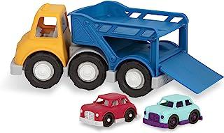 Battat Wonder Wheels — 汽车载车卡车 — 玩具卡车带 2 辆玩具车,适合 1 岁及以上的幼儿 (3Pc) – * 可回收
