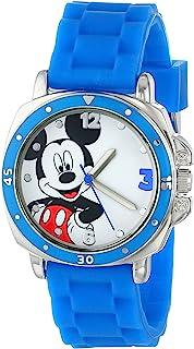 Disney 儿童 MK1266 手表蓝色橡胶表带