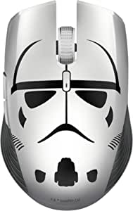 Razer Atheris Stormtrooper Ed 符合人体工学的游戏鼠标,具有350小时的电池寿命,7200 Dpi光学传感器,2.4 GHz自适应频率技术-水星/白色