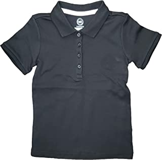 Wonder Nation 女孩黑色校服 Polo 衫