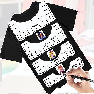 T 恤标尺校准工具 4 件测量尺 T 恤标尺指南校准工具标准缝纫尺