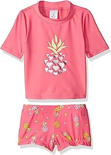 Kiko & Max 女孩套装带短袖*衣游泳衬衫