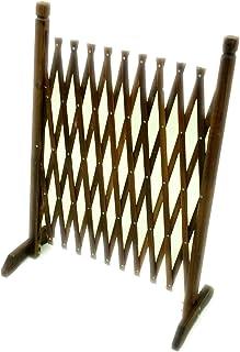 【栅栏・树篱・篱笆・门栏】(轻量紧凑) 烧杉 手风琴围栏(约150x90㎝) HGC-1590YK.