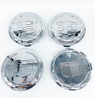 新款 4 件/套 Escalade 镀铬车轮中心轮毂盖徽章 83 毫米/3.25 英寸 HUBCAP 车轮盖,适用于 Cadillac 凯迪拉克 Escalade 2007-2013 ESV EXT 9595891(颜色)