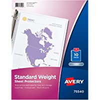 Avery 标准重量 sheet protectors
