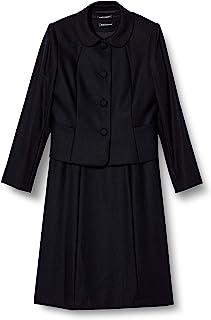BLACK GALLERY 试验 渐变色 立领三扣夹克&连衣裙 羊毛* 藏青色 7号~13号