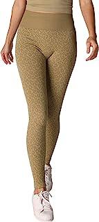 NIKIBIKI 女式无缝豹纹打底裤,美国制造,均码