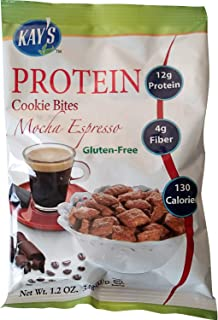 Kay's Naturals 蛋白质饼干小吃,摩卡浓缩咖啡,无麸质,低*,*友好,*香料,1.2 盎司(34.0 克)(6 件装)
