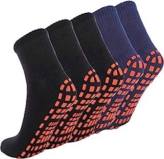 NOVAYARD 5 双装防滑袜男女瑜伽,普拉提运动*脚踝袜带抓地力