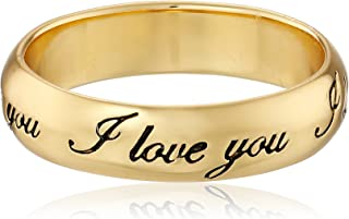 """Plated Sterling Silver""""I Love You"""" Ring"""