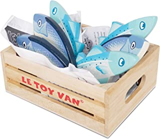 Le Toy Van - 木质蜂蜜市场新鲜鱼笼超市假扮游戏店食物