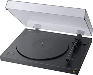 Sony 索尼 PS-HX500 电唱机 高分辨率音频翻录功能, 双DSD格式录音, USB, A/D 转换器),黑色