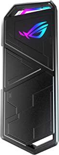 ASUS 华硕 ROG 玩家国度 STRIX Arion 铝合金M.2 NVMe SSD 外部便携式机箱适配器,USB 3.2 Gen 2 Type-C(10 Gbps),USB-C至C和USB-C至A电缆,适合PCIe 2280/2260/2...