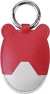 BOVIPO 皮套与 AitTag Finder 兼容,带钥匙扣钥匙圈保护盖 AitTag 保护套适用于狗项圈/钱包/钥匙多色AitTag 配件(红色和灰色)