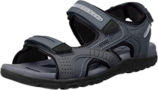 GEOX 男士Strada D露趾凉鞋