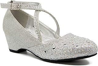 Eight Eighteen 幼童和大女孩闪亮玛丽珍礼服鞋适用于派对 - Daph