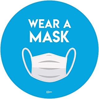Avery Wear a Mask 圆形标签标牌 Ø 275mm,每包 2 个