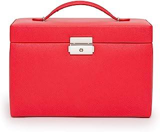 WOLF Heritage 大号首饰盒,红色十字纹