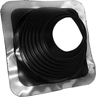 Oatey 14054 Retro Master Flash 4 英寸 - 7 英寸(约 10.2 厘米 - 17.8 厘米)管道直径屋顶闪烁 11 英寸 x 11 英寸(约 27.9 厘米 x 27.9 厘米)底座,黑色