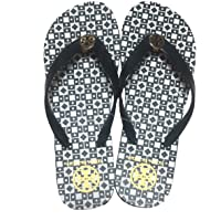 Tory Burch Isidro Flip Flops Shoes Sandals Flat Rubber (Blac…