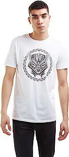 Marvel 漫威男式黑豹标志 T 恤
