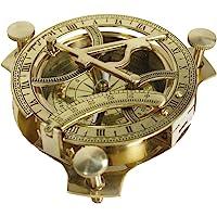 Zap Impex 太阳表指南针 - 黄铜金属指南针太阳表(尺寸 - 7.62 厘米)