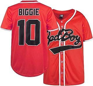 坏男孩运动衫,10 大吉棒球运动衫,90S 嘻哈短袖衬衫棒球运动衫连衣裙 S-XXXL