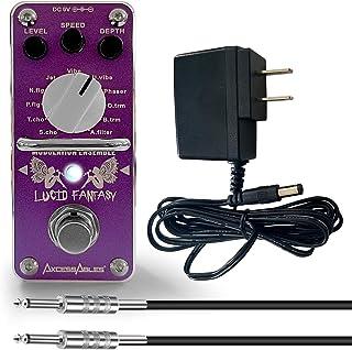 AxcessAbles LUCID FANTASY 调制吉他踏板套装 - 振动/颤音/Uni-Vibe/Wave-Chorus 多合一和更多!包括电源和电缆