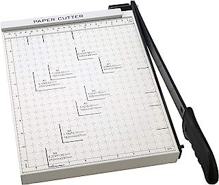 纸张修剪器,A4 切纸刀 Guillotine 带重型网格底切割长度 12 张容量,切割纸机