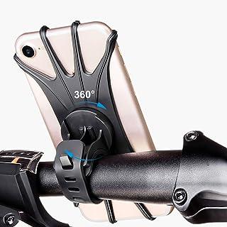 Kim Player 自行车手机支架,360°旋转硅胶自行车手机支架,通用车把支架,适合4~6英寸(约10.2~15.2厘米)的手机