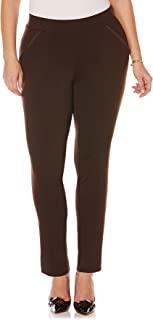 Rafaella Women's Plus Size Comfort Fit Knit Ponte Pant Dark Chocolate 16 Plus