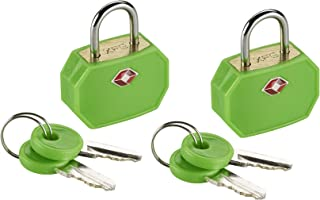 Lewis N. Clark TSA 迷你挂锁 2 件装 绿色 均码