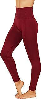Fit Division 女式裤子黄油柔软羊毛打底裤高腰冬季保暖