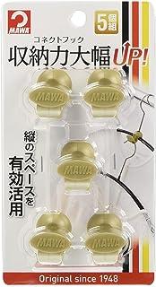 MAWA 衣物衣架 金色 3.3×3×2.4cm 连接钩 18539 5个装